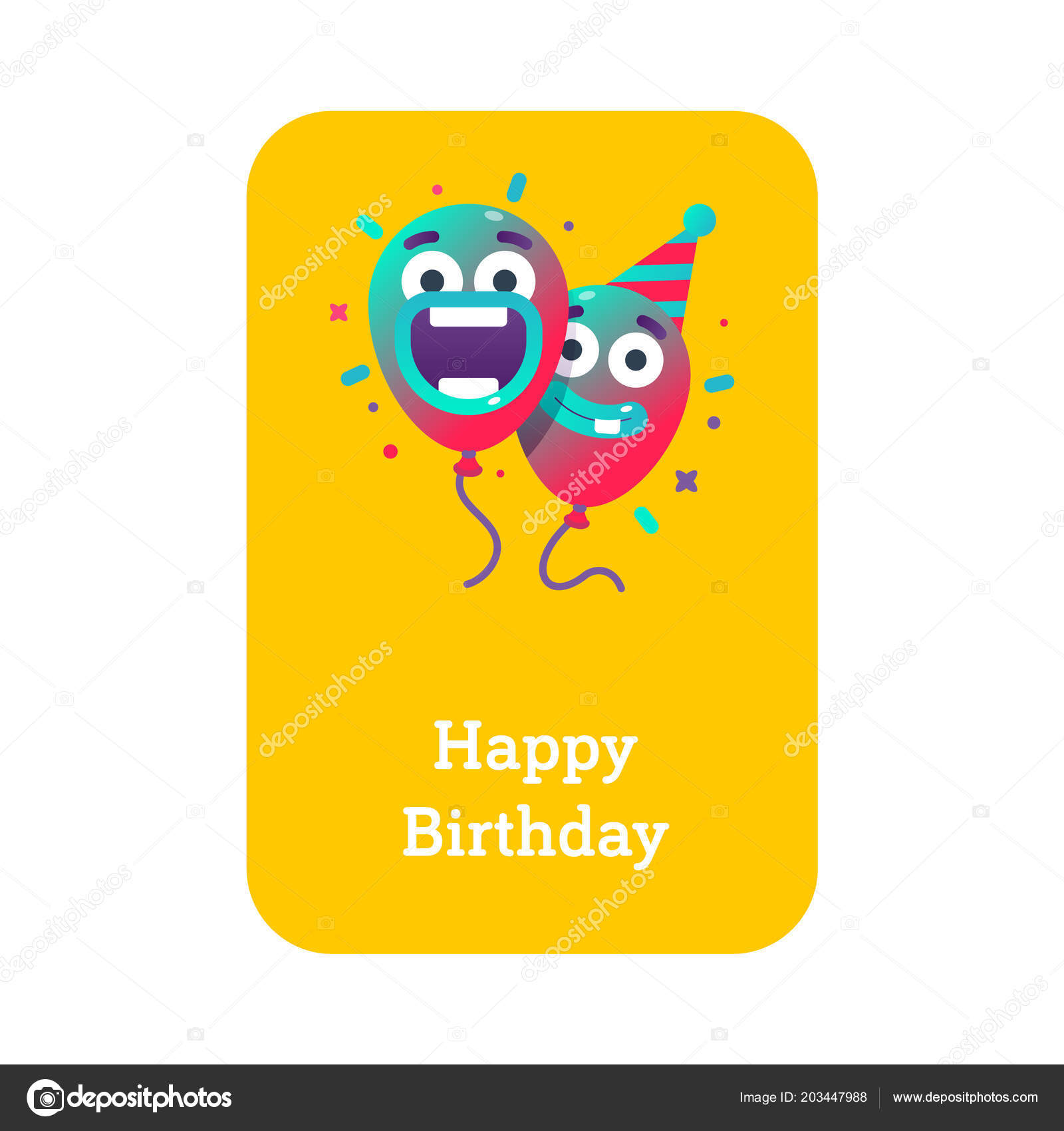 Modern Birthday Party Ideas Colorful Balloons Party Hat