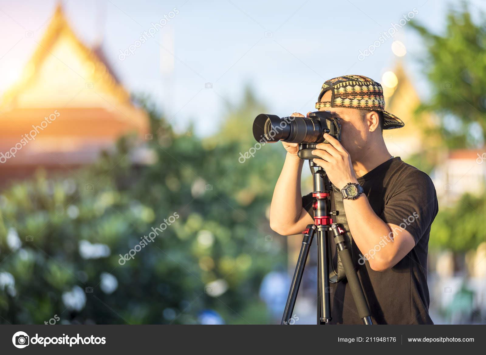 Digital Photographer Concept Photographer Shooting Landscape