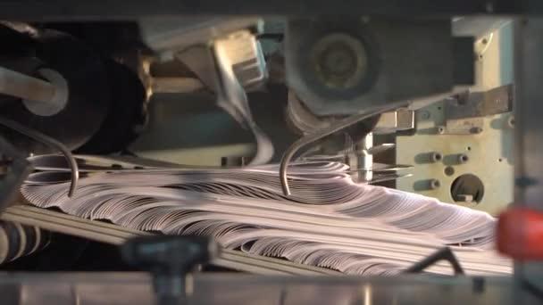 printing press slowmotion. matbaa.