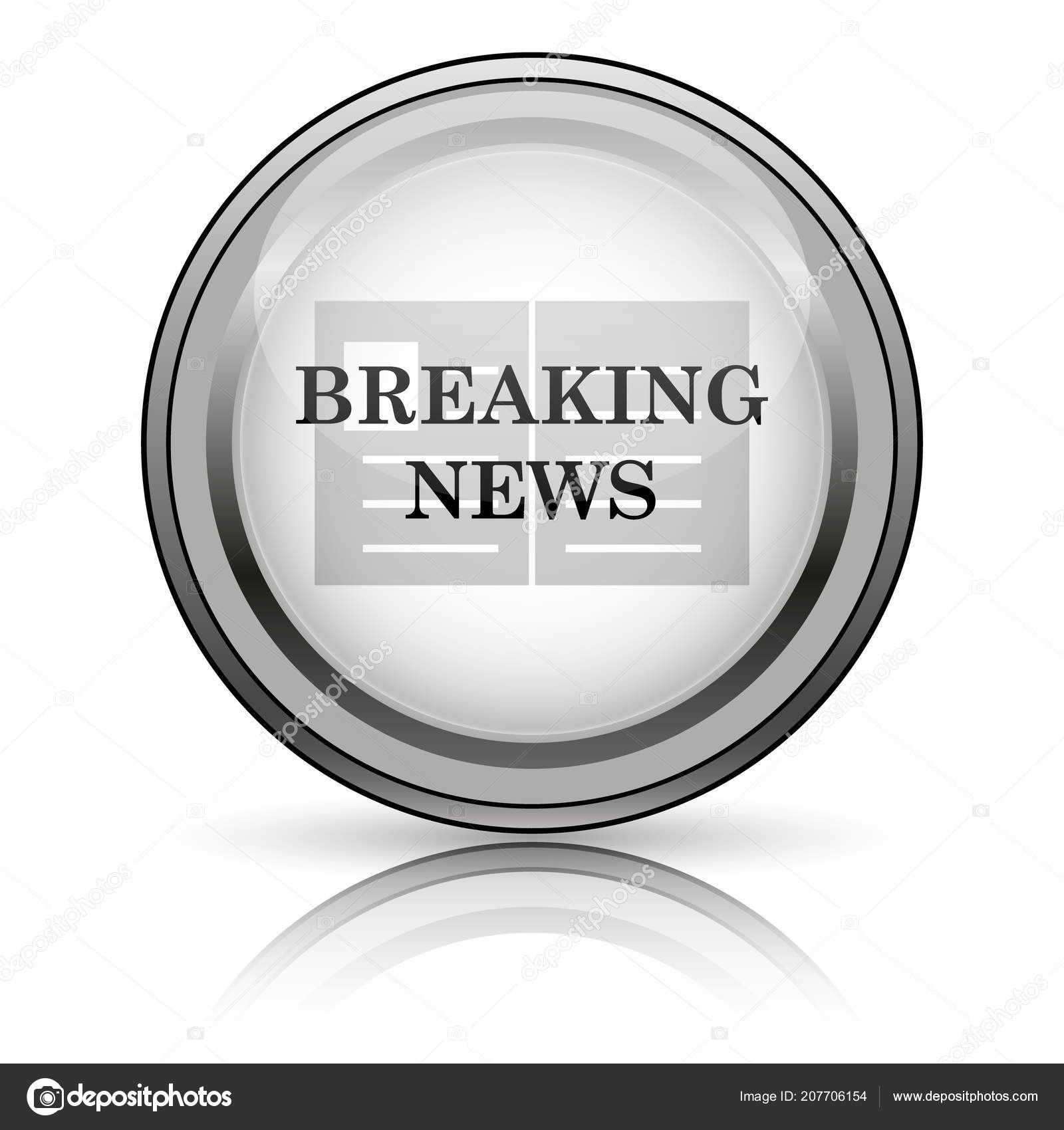 Breaking news icon — Stock Photo © valentint #207706154