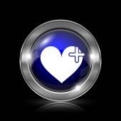 srdce s přes ikonu
