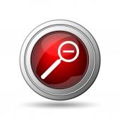 Oddálení mapy ikonu. Internet tlačítko na bílém pozadí