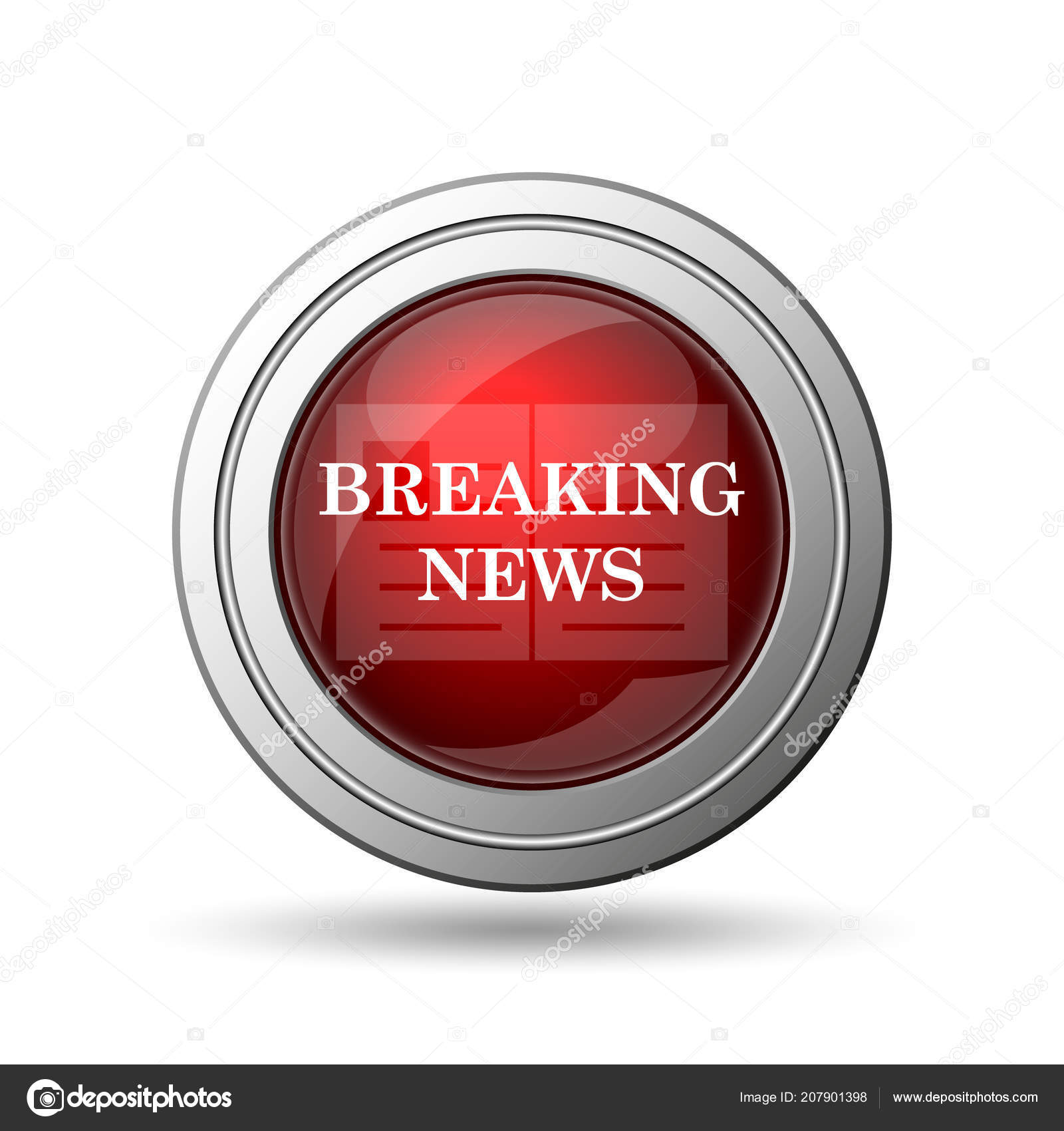 Breaking news icon — Stock Photo © valentint #207901398