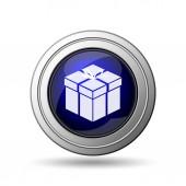 Dárkové ikona. Internet tlačítko na bílém pozadí