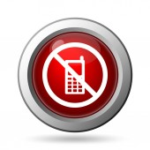 Mobilní telefon pouze ikonu. Internet tlačítko na bílém pozadí