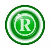 registrovaná značka ikona