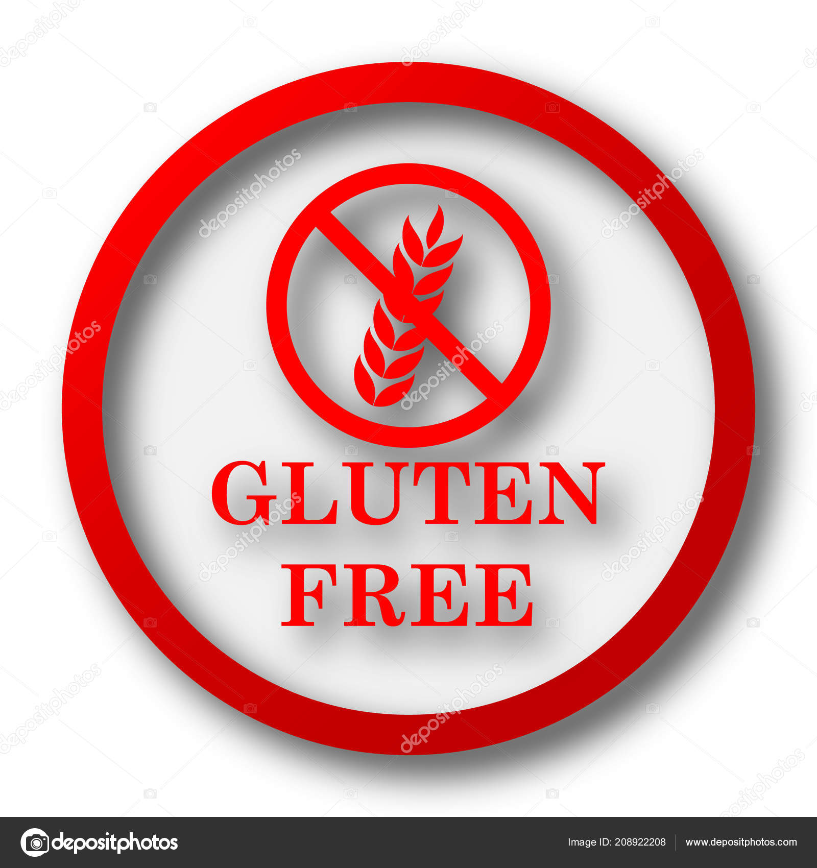 Gluten free icon — Stock Photo © valentint #208922208