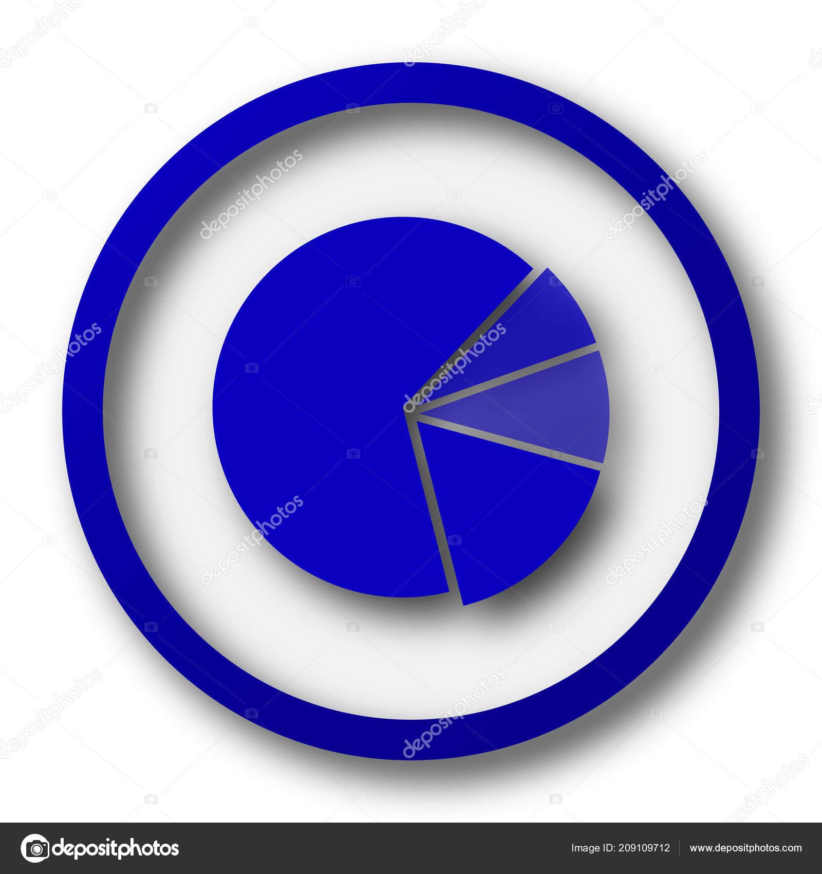 Chart Pie Icon Blue Internet Button White Background Stock Photo