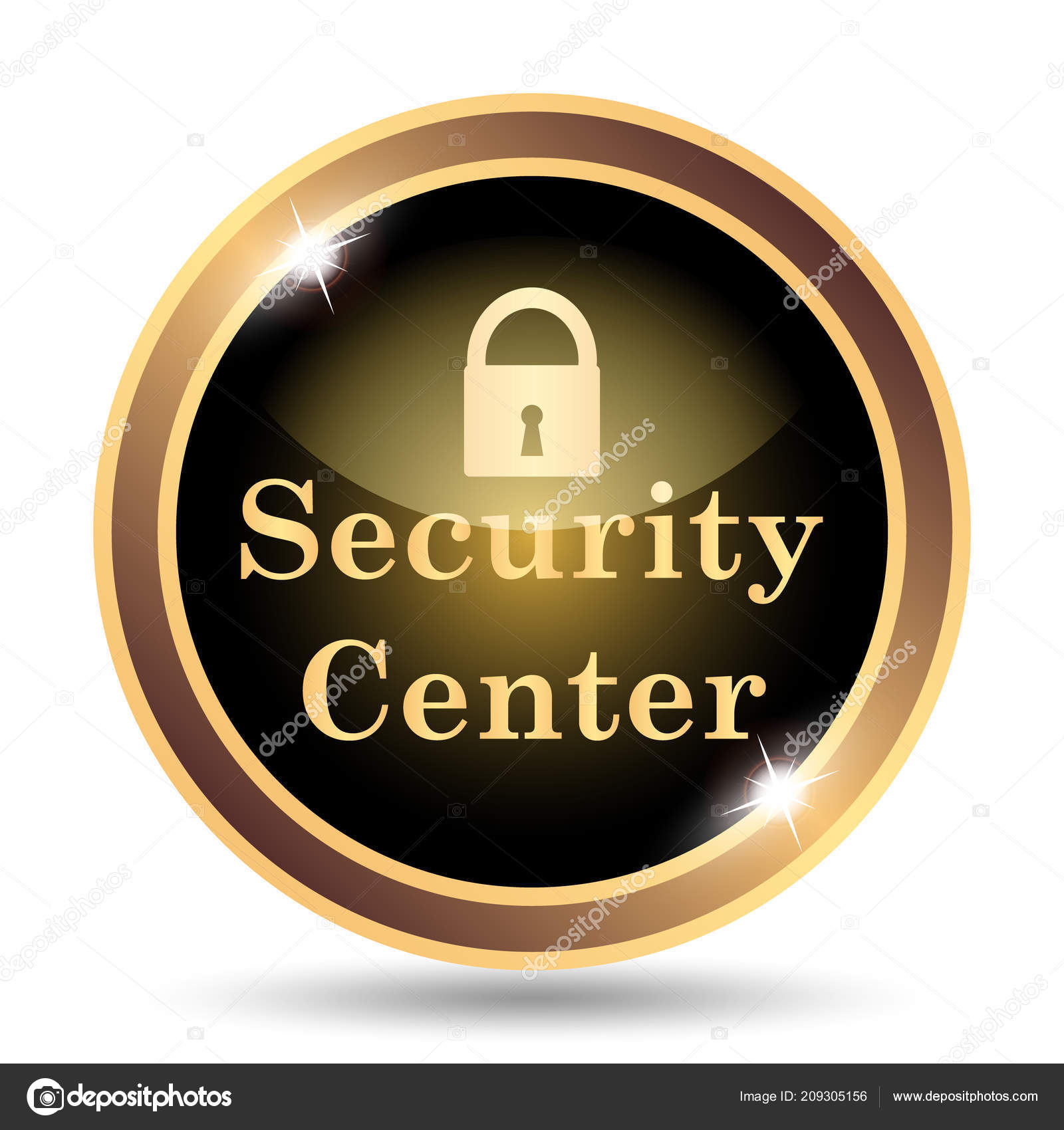 Security Center Icon Internet Button White Background