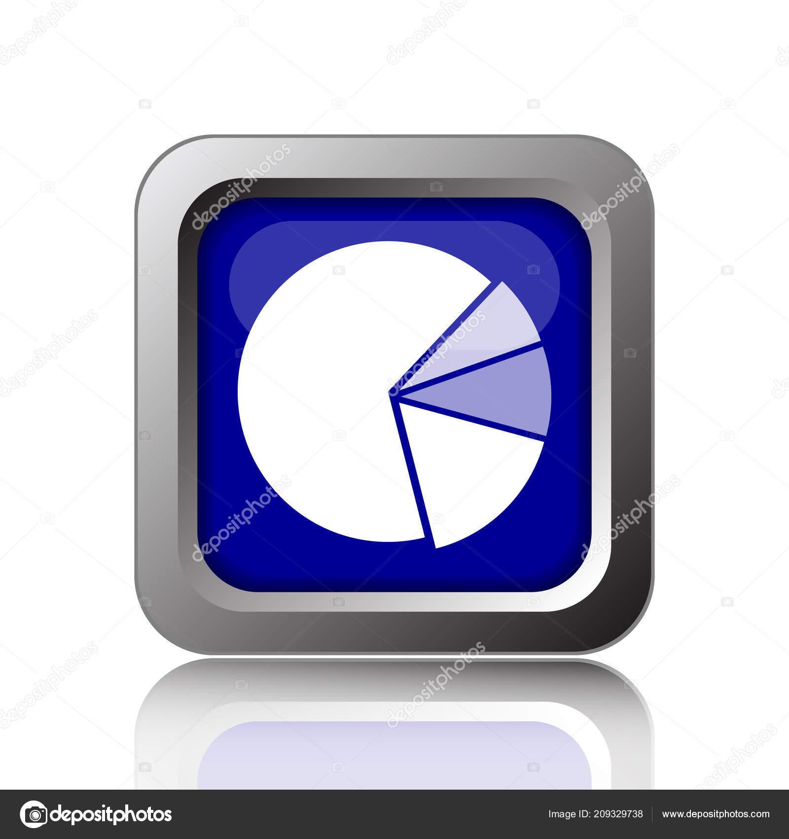 Chart Pie Icon Internet Button White Background Stock Photo