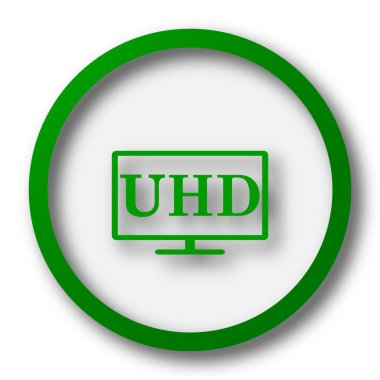 Ultra HD icon. Internet button on white background