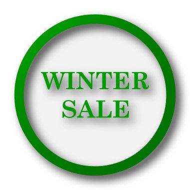 Winter sale icon. Internet button on white background