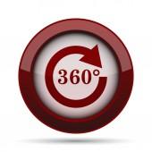 Ikona nabíjení 360. Internet tlačítko na bílém pozadí