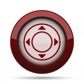 Joystick ikon. Internet gomb fehér háttér