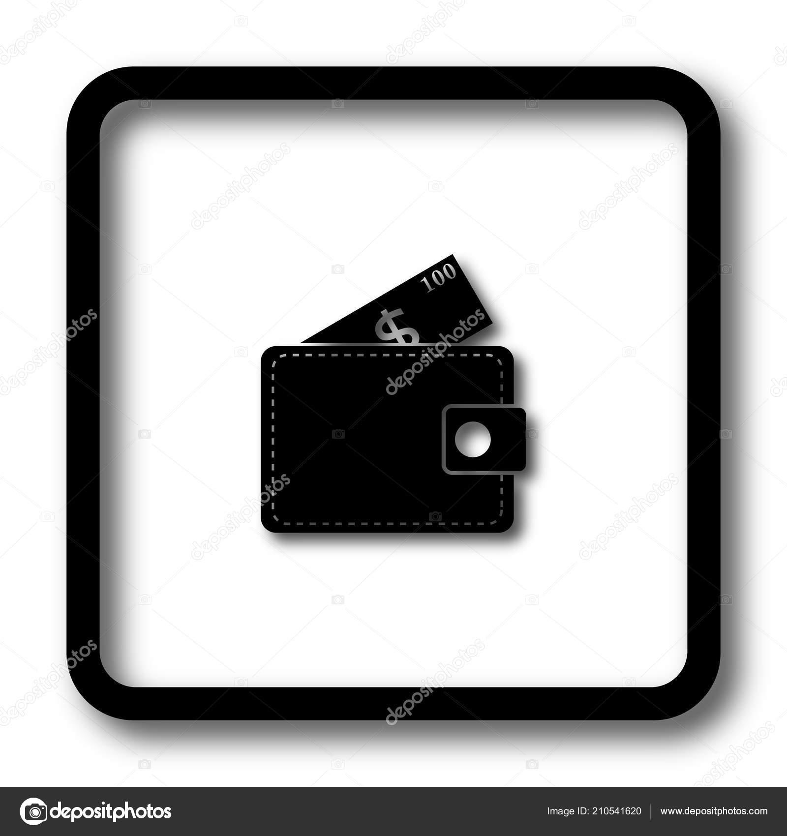 wallet icon black website button white background stock photo c valentint 210541620 depositphotos