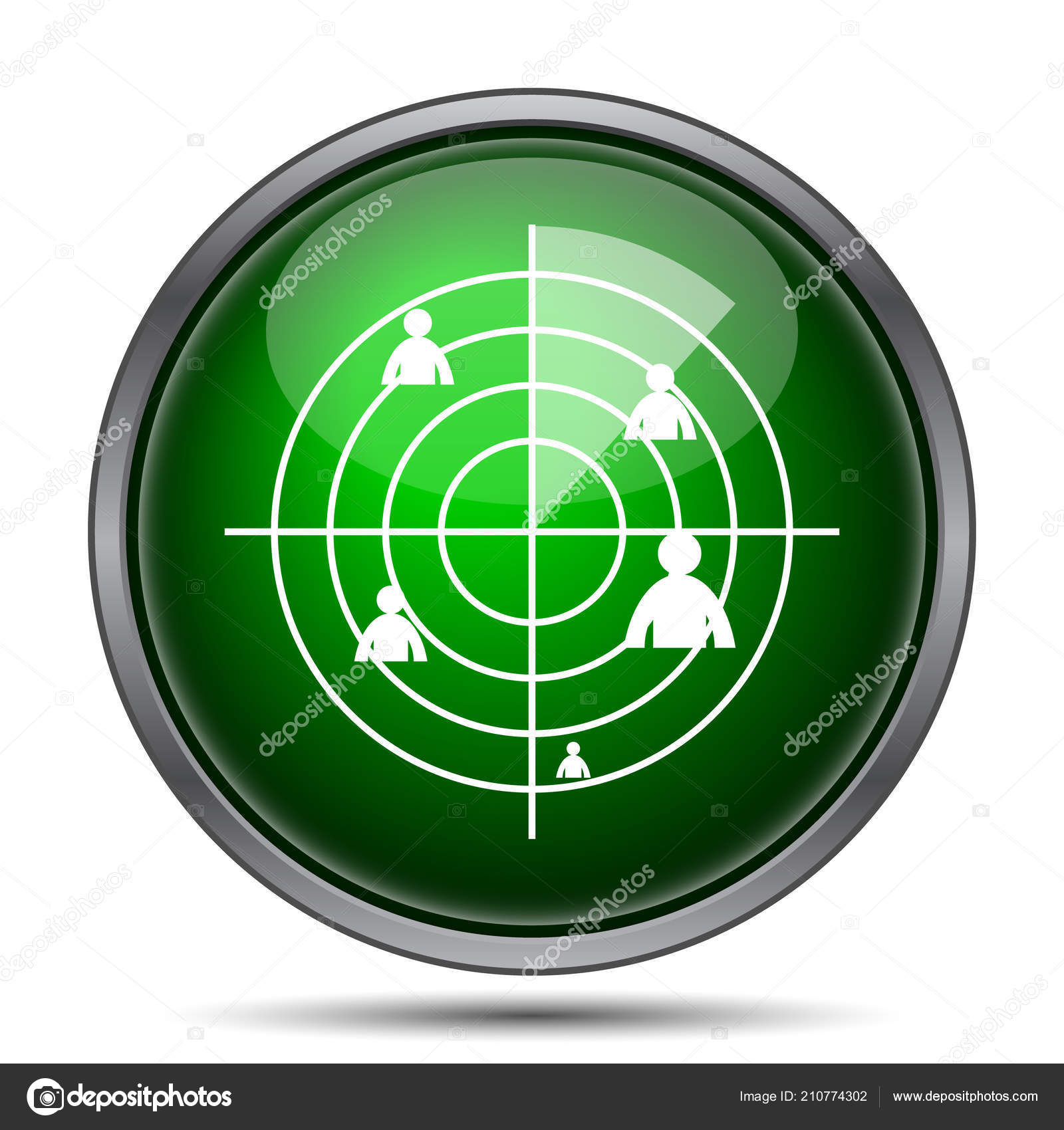 Radar Symbol Stockfoto Valentint 210774302