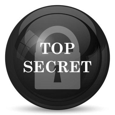 Top secret icon. Internet button on white background