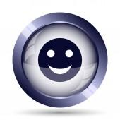Smiley icon. Internet button on white background