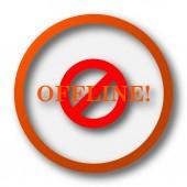 Offline ikon. Internet gomb fehér háttér