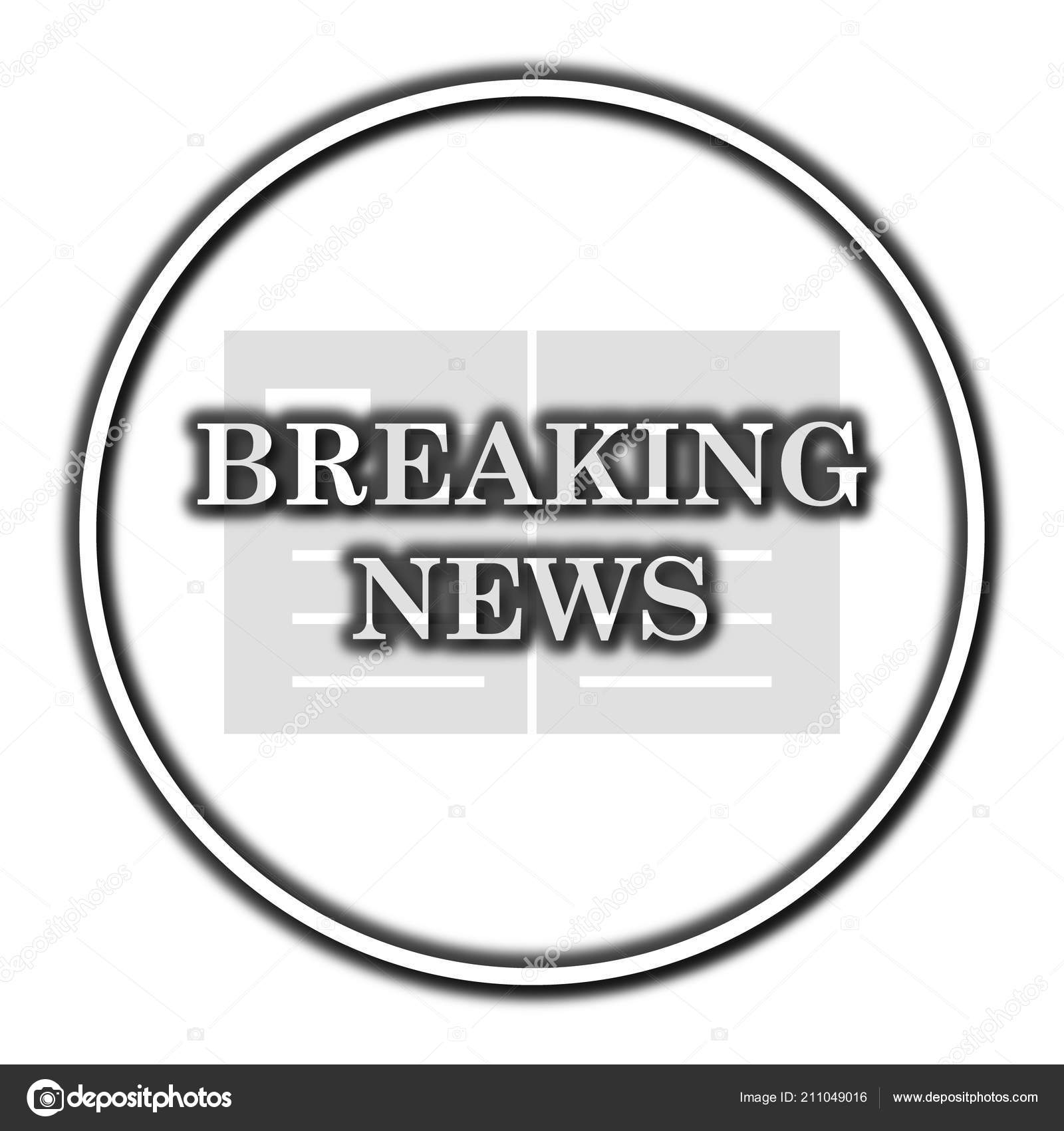 Breaking news icon — Stock Photo © valentint #211049016