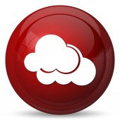 Clouds icon. Internet button on white background