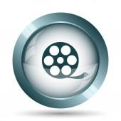Video icon. Internet button on white background.