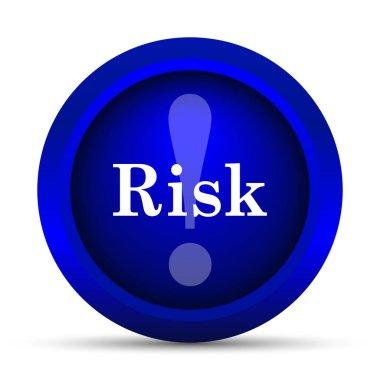 Risk icon. Internet button on white background