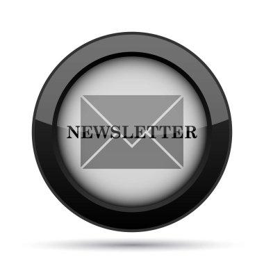 Newsletter icon. Internet button on white background