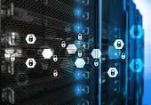 Kybernetická bezpečnost, ochrana údajů, ochrana osobních údajů. Internet a technologie koncept