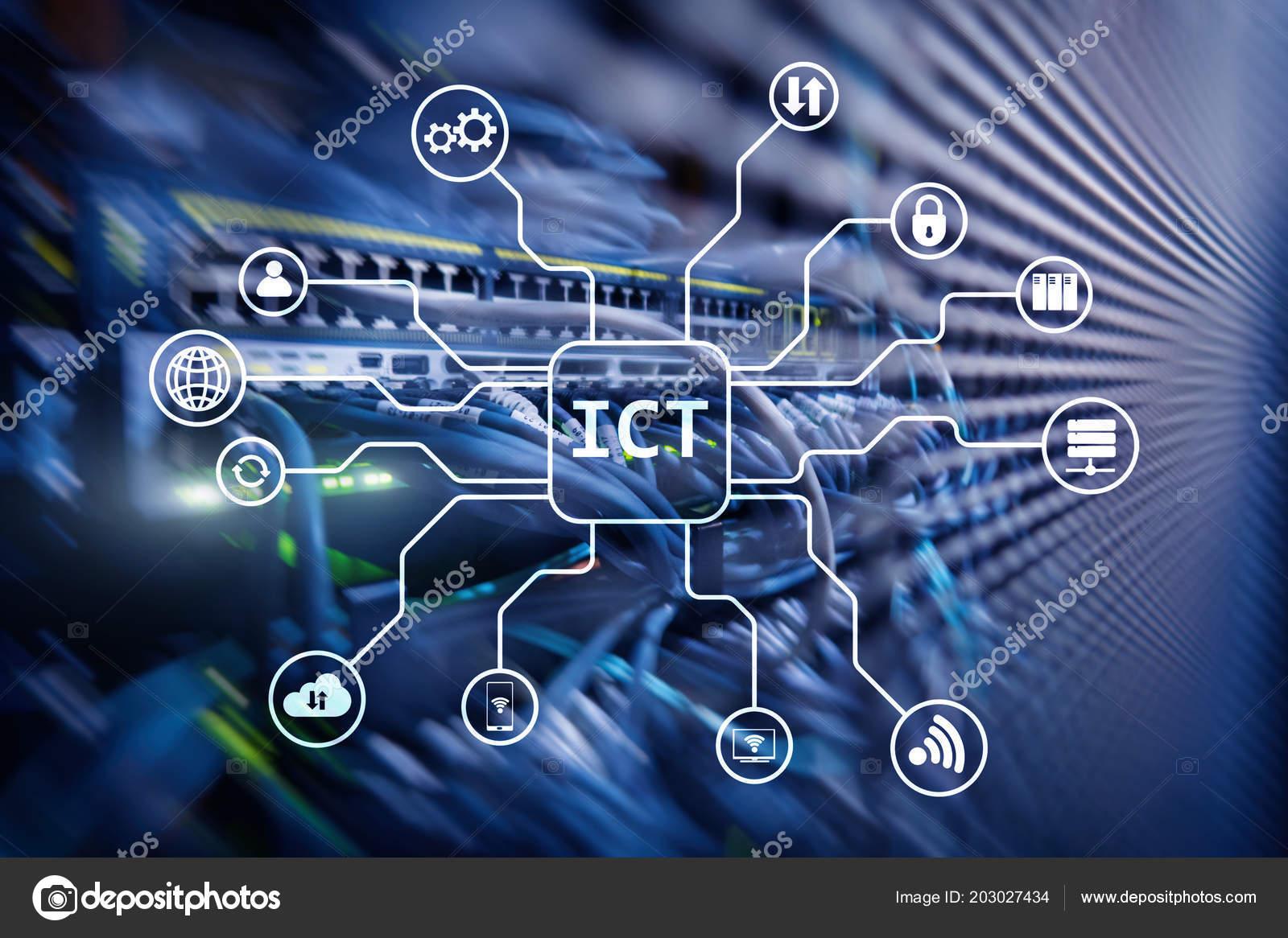 Ict Information Communications Technology Concept Server ...