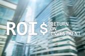 Fotografie ROI - návratnost investic, finančních trhů a obchodování koncept