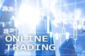 Fotografie Online obchodování, Forex, investiční koncepci na pozadí rozmazané obchodní centrum.