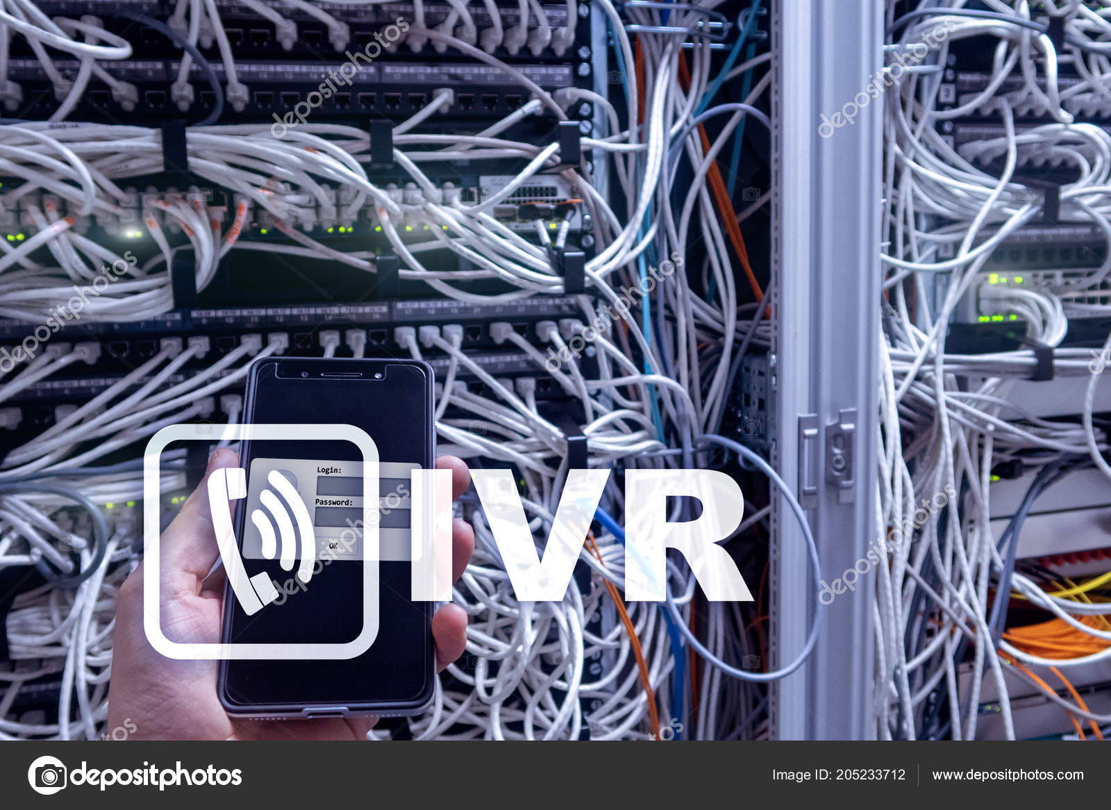 Interactive Cable Wiring Ivr Voice Response Communication Concept Stock Photo