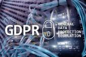Fotografie GDPR, General data protection regulation compliance. Server room background.