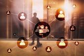 HR - concetto di gestione delle risorse umane su priorità bassa vaga business center.