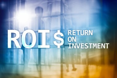 ROI - Return on investment, Financial market and stock trading concept.