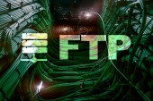 Fotografie FTP - File transfer protocol. Internet and communication technology concept.