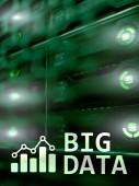 Fotografie Big data analysing server. Internet and technology.