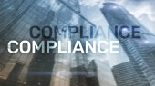 Fotografie Compliance diagram with icons. Business concept on abstract background.