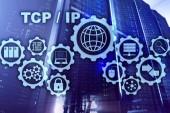 tcp IP-Vernetzung. Übertragungsprotokoll. Internet-Technologie-Konzept.