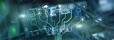 IOT, Internet of things, telecommunication concept. data center