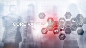 Fotografie Core values concept on virtual screen. Business and finance solutions.