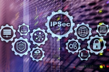 IP Security. Data Protection Protocols. IPSec. Internet and Protection Network concept.