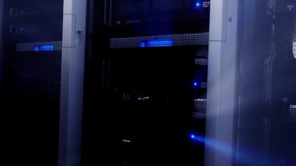 Blue Dark Server funktionieren. Lichtstrahlen.