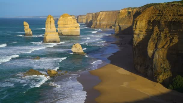 Twelve Apostles Marine National Park coastline view limestone cliffs and offshore rock formations Shipwreck Coast Victoria Australia
