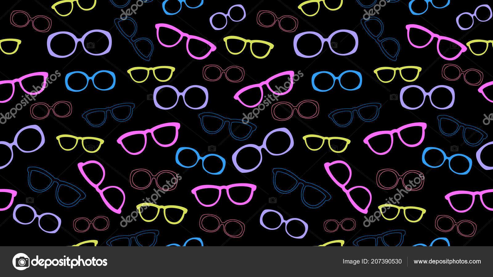 Con Verano Vector Ilustración Imprimir Transparente Gafas Sol Patrón nkwO8P0
