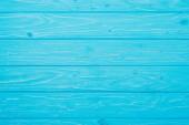 Draufsicht auf helle blaue Holzplanken Oberfläche für Hintergrund