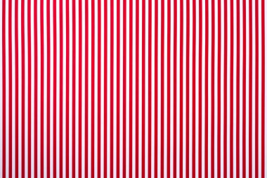 Top view of white and red striped surface for background stock vector
