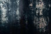 Fotografia vista superiore del modello di metallo blu grungy per sfondo