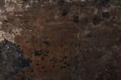 Fotografia vista superiore della superficie di metallo arrugginita per sfondo